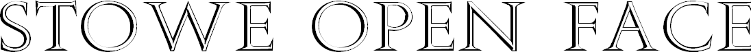 Preview image for Stowe Open Face Font