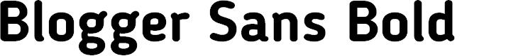 Preview image for Blogger Sans Bold