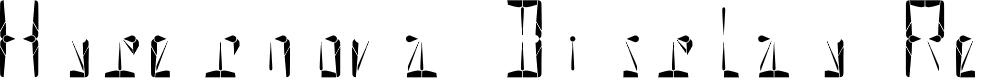 Preview image for Hypernova Display Regular Font