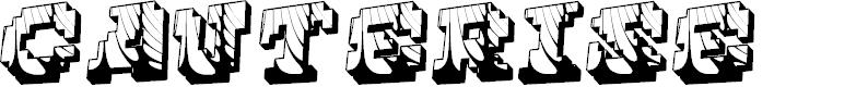 Preview image for Cauterise Font