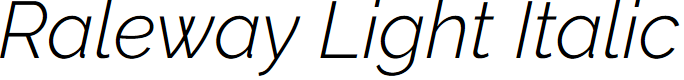 Preview image for Raleway Light Italic