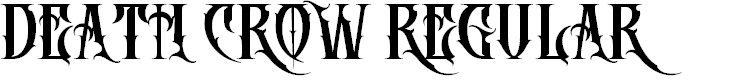 Preview image for DEATH CROW Regular Font