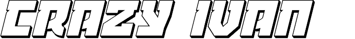 Preview image for Crazy Ivan 3D Italic