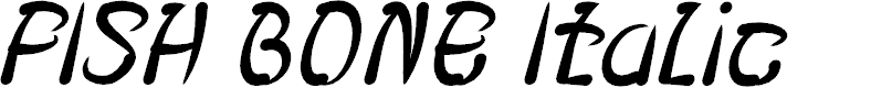 Preview image for FISH BONE Italic