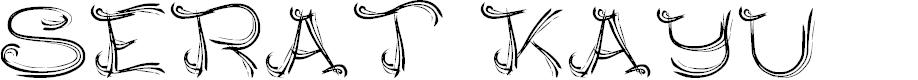 Preview image for SERAT KAYU Font