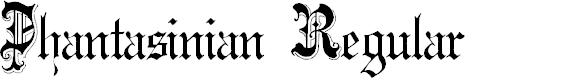 Preview image for Phantasinian Regular Font