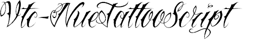 Preview image for Vtc-NueTattooScript Font