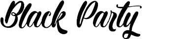 Preview image for Black Party Font