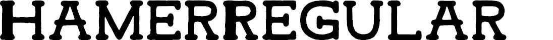 Preview image for HamerRegular Font