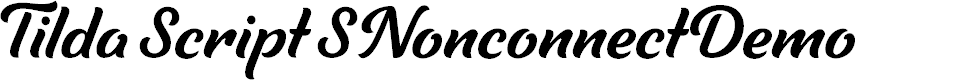 Preview image for TildaScriptSNonconnectDemo Font