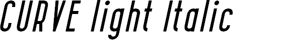 Preview image for CURVE light Italic