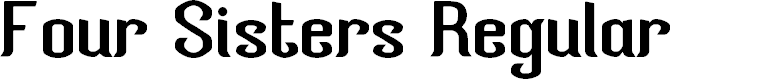 Preview image for Four Sisters Regular Font