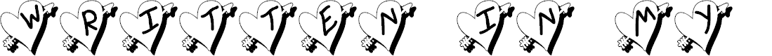 Preview image for Written In My Heart Shadow Updated Font