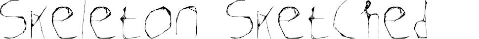 Preview image for Skeleton Sketched Font