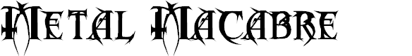 Preview image for Metal Macabre Font