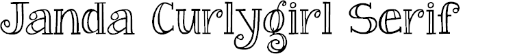 Preview image for Janda Curlygirl Serif Font