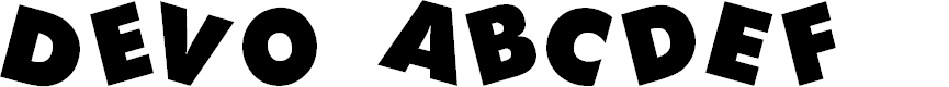 Preview image for DEVO Font