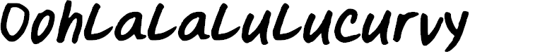 Preview image for Oohlalalulucurvy Font