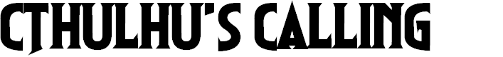 Preview image for Cthulhu's Calling Font