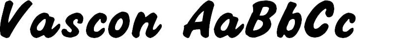 Preview image for Vascon Normal Font