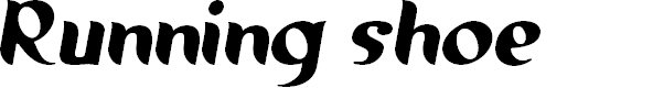 Preview image for Running shoe Font