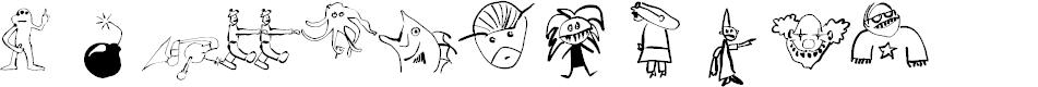 Preview image for BatzBats Font