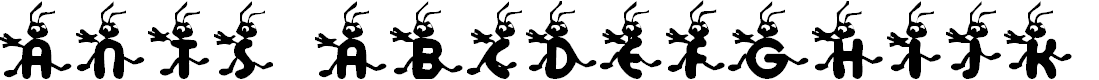 Preview image for KR Ants Font