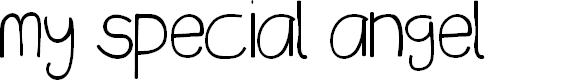 Preview image for my special angel Font