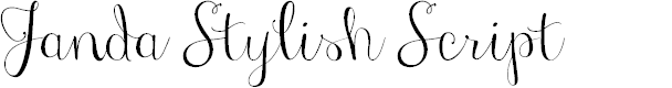 Preview image for Janda Stylish Script