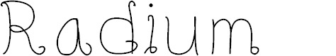 Preview image for Radium Font