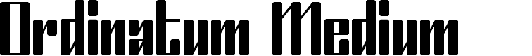 Preview image for Ordinatum Medium Font
