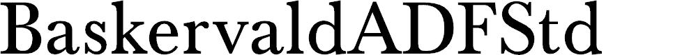 Preview image for BaskervaldADFStd Font