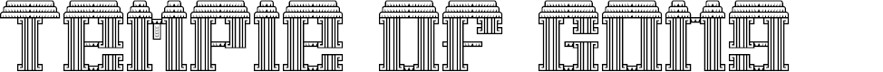 Preview image for Temple of Gong Regular Font