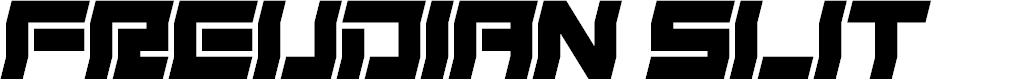 Preview image for Freudian Slit Font