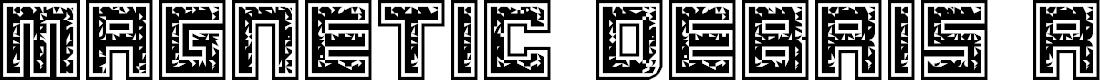 Preview image for Magnetic Debris Regular Font