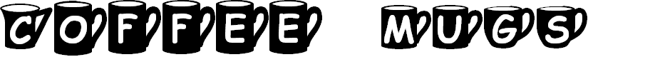 Preview image for Coffee  Mugs Font