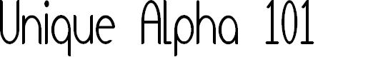 Preview image for Unique Alpha 101 Font
