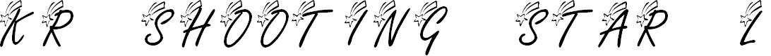 Preview image for KR Shooting Star (Left) Font