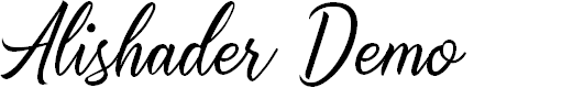 Preview image for Alishader Demo Font