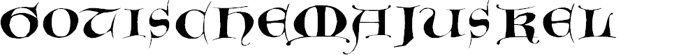 Preview image for GotischeMajuskel Font