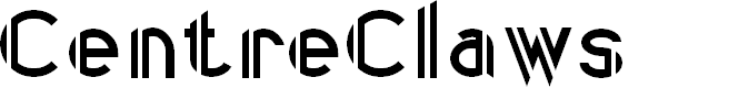 Preview image for CentreClaws Font