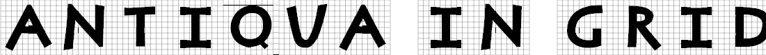 Preview image for AntiquaInGrid Font