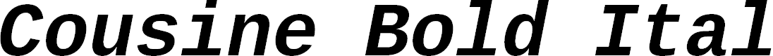 Preview image for Cousine Bold Italic