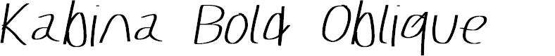 Preview image for Kabina Bold Oblique