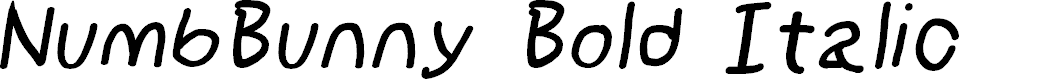 Preview image for NumbBunny Bold Italic