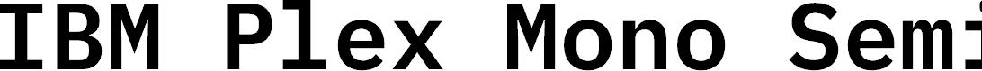 Preview image for IBM Plex Mono SemiBold