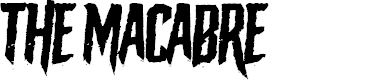 Preview image for The Macabre Font