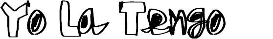 Preview image for Yo La Tengo Font