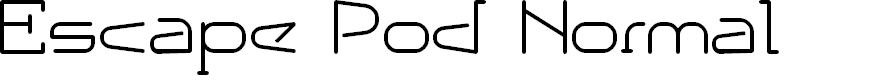Preview image for Escape Pod Normal Font