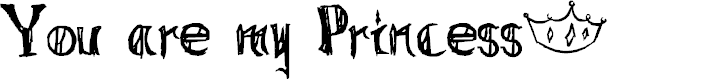 Preview image for You are my Princess~ Font